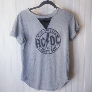 AC/DC band T-shirt Size Medium Mesh Front